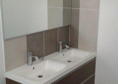 photo double lavabo salle de bain réunion